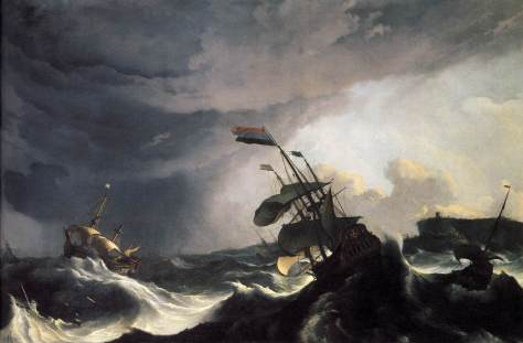 Ships in distress: a storm