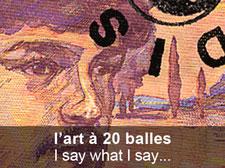 l'art à 20 balles