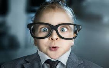 glasses on child