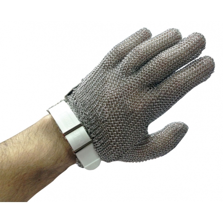 gant cotte maille anti coupure inox blanc taille s