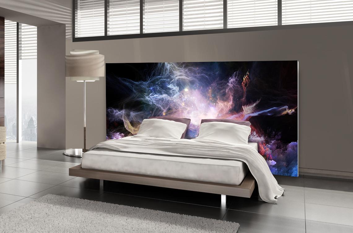 tete de lit nebuleuse lit de 140