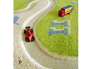tapis enfant ivi cicuit course voiture vert