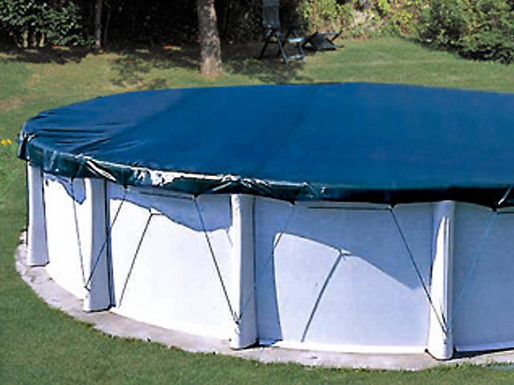 couverture protection et hivernage filet coverlux o430cm pour piscine hors sol ronde o370cm