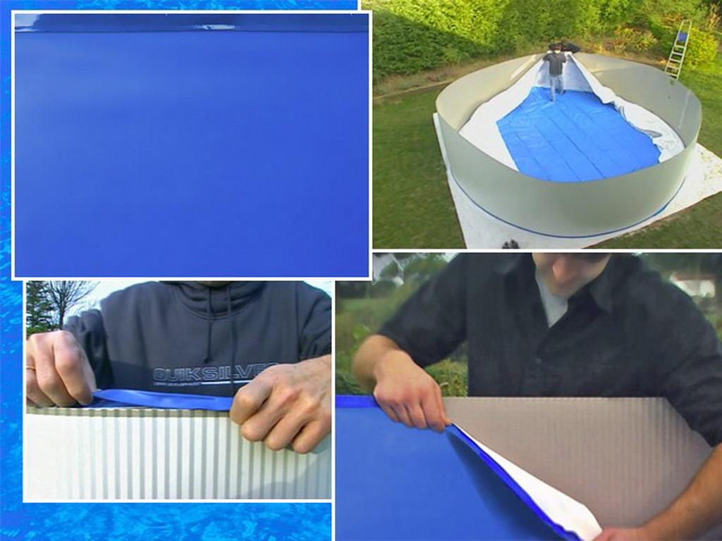 Liner uni bleu avec rail DREAMPOOL 30100eme piscine hors