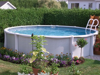 Kit piscine horssol rsine Vogue SUMMUM ronde 732m x 132m sur MarchdelaPiscinecom