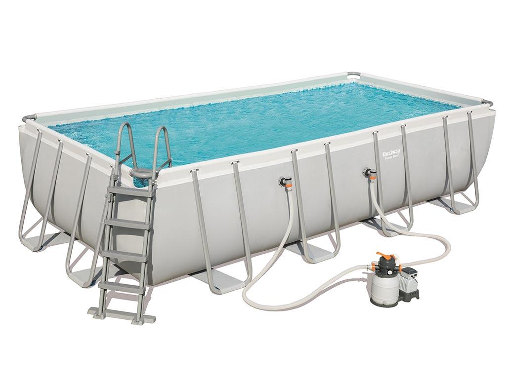 Kit piscine tubulaire Bestway STEEL PRO FRAME rectangulaire 549 x 274 x 122cm filtration  sable