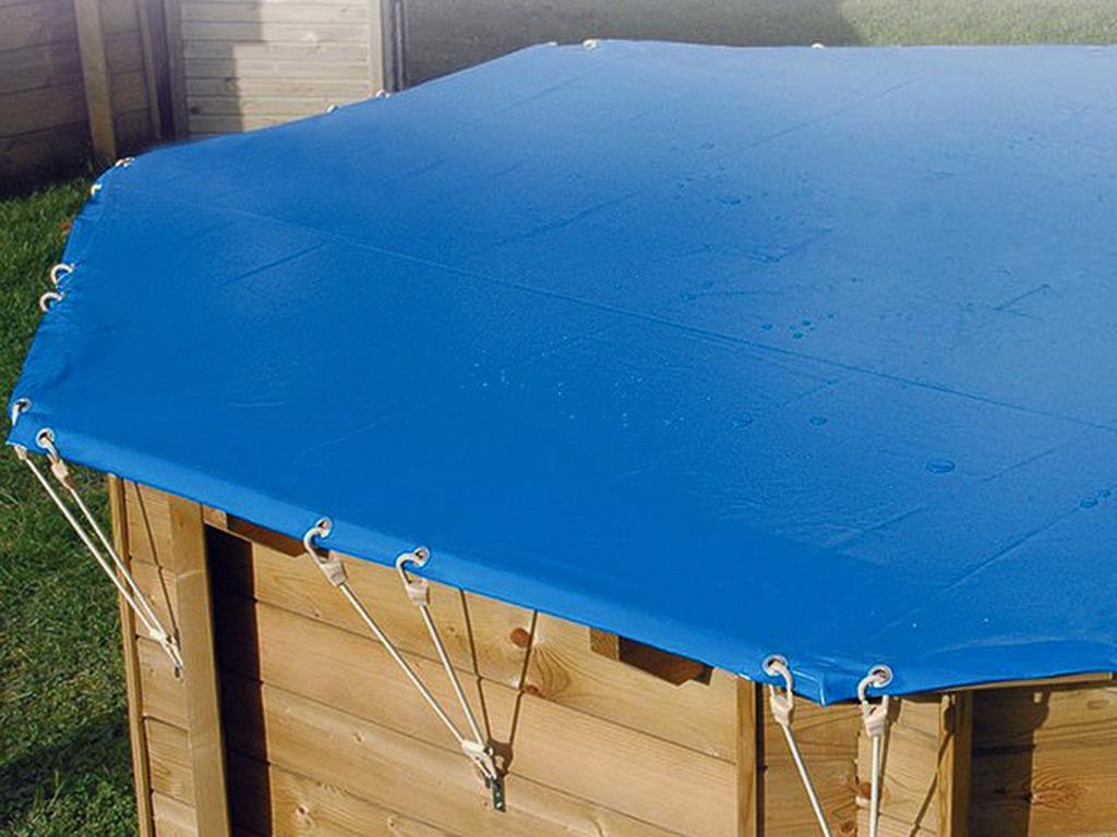 couverture de securite ubbink octogonale diametre 5 80m norme nfp 90 308 pour piscine bois ubbink