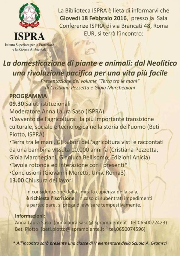 Gioia Marchegiani - Terra tra le mani - ISPRA - Feb 2016