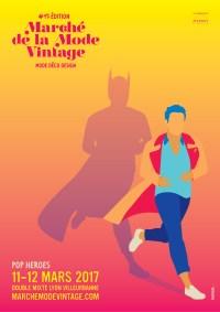 Affiche Marche de la Mode Vintage Batman 2017