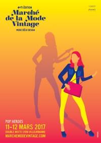 Affiche Marche de la Mode Vintage Ziggy 2017