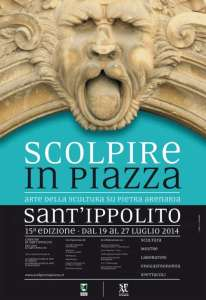 Manifesto Scolpire in Piazza 2014