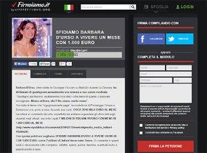 Petizione su Barbara D'Urso