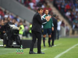 GENEVA, SWITZERLAND - JUNE 16:  Head coach Italy Antonio Conte reacts during the international friendly match between Portugal and Italy at Stade de Geneve on June 16, 2015 in Geneva, Switzerland.  (Photo by Claudio Villa/Getty Images)