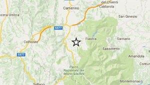Scossa sismica nel distretto INGV di Macerata