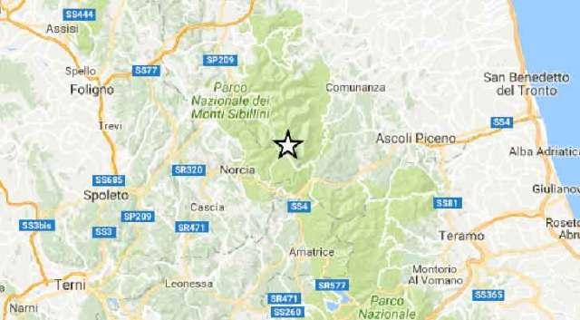 Doppio evento sismico nella zona di Ascoli Piceno di 3.0 e 2.5
