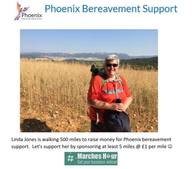 Linda Jones - Raising money for Phoenix bereavement support