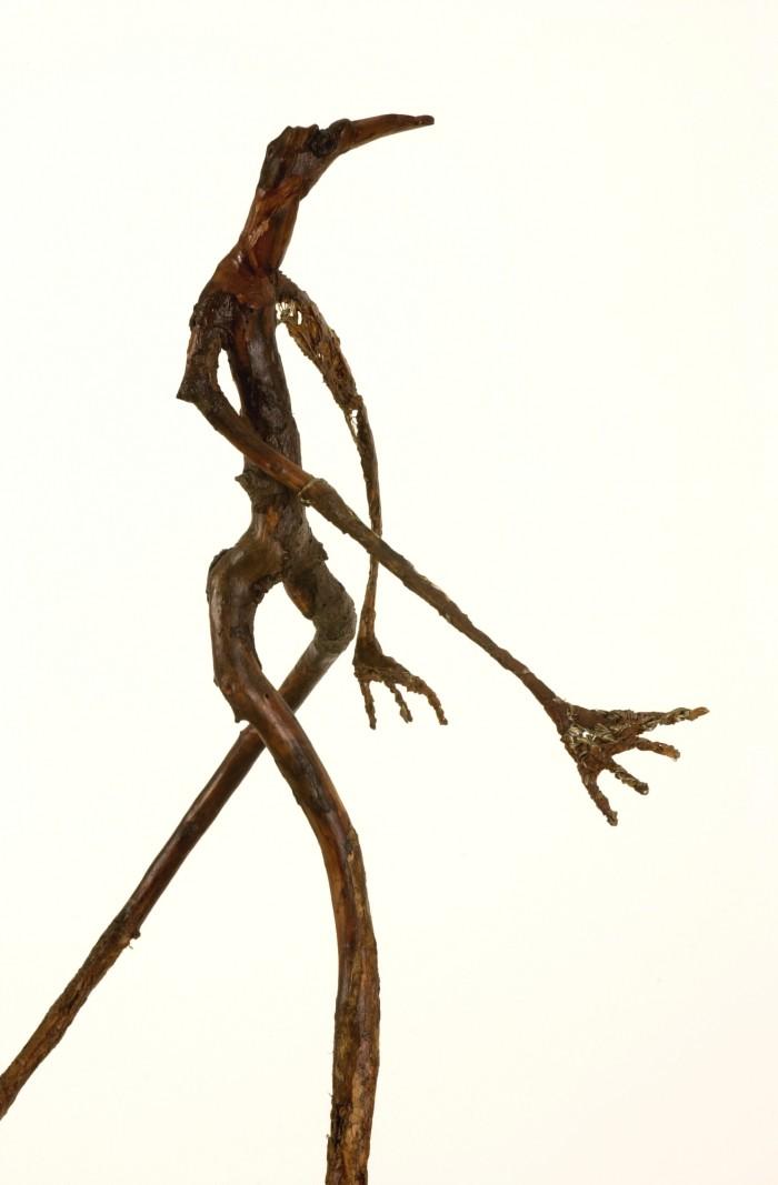 Danseuse en transe - Plâtre et bois - H. 90 cm