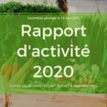 La rapport d'activité 2020