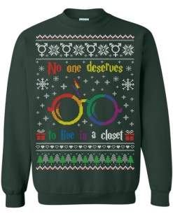 No One Deserves To Live In A Closet Harry Potter Ugly Christmas Sweater