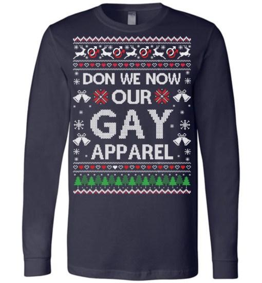 Gay Christmas Canvas LS T-Shirt
