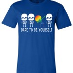 Dare To Be Yourself LGBTQ+ Canvas Unisex T-Shirt