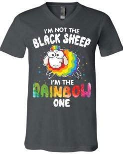 I'm Not The Black Sheep Canvas Unisex V-Neck T-Shirt