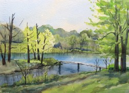 Field Trip, 3rd Place Watercolor, Augusta Plein Air Art Festival 2015