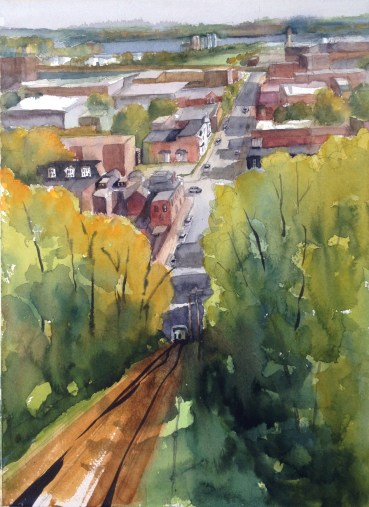 Funicular View, Honorable Mention, Bluff Strokes Plein Air SOLD