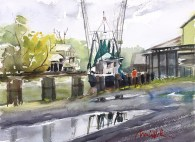 Shrimping (in Delcambre), Honorable Mention, Shadows-on-the-Teche Juried Plein Air SOLD