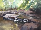 Natural Spring, First Place, Thundering Oaks Paint Out 2017 SOLD