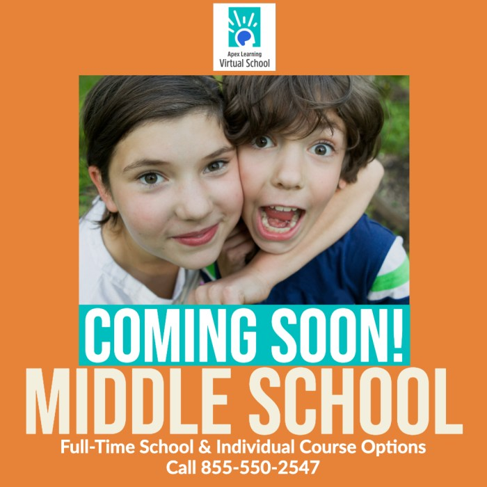 COMING SOON! MIDDLE SCHOOL