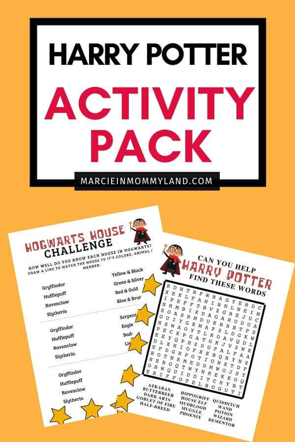 Free Harry Potter Printable Activities Marcie In Mommyland