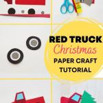 Red Truck With Christmas Tree Craft Tutorial Marcie In Mommyland