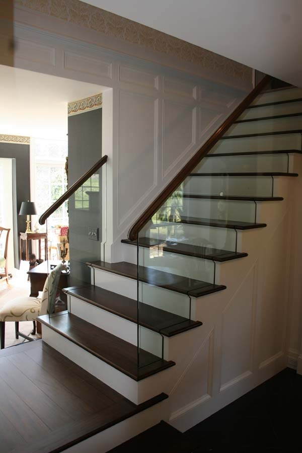 Glass Stair Railing Design Marc Konys Glass Design | Staircase Handrail Glass Designs | Frosted Glass | Curved | Glass Baluster | Glass Painting | Glass Etching