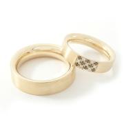 Geelgdn Tr Ringen Zwartwit Diamant