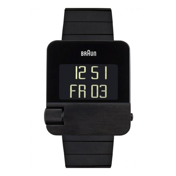 Zwart Prestige horloge met een stalen band.