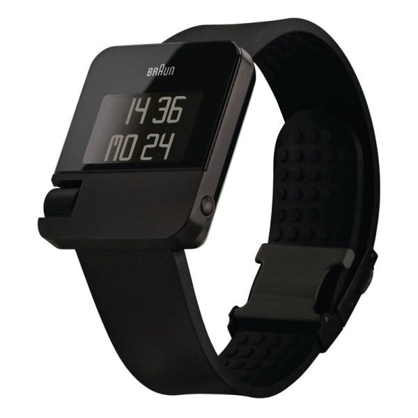 Zwart Braun Prestige horloge met rubberen band.