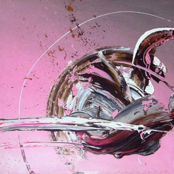 'Pink Pivot', 100 x 100 cm
