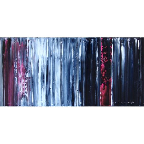 'Pink Stream Cascade', 160 x 80 cm