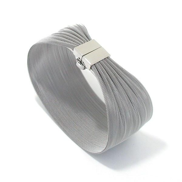 Edelstalen gaasarmband ´Sheet´, smalle uitvoering
