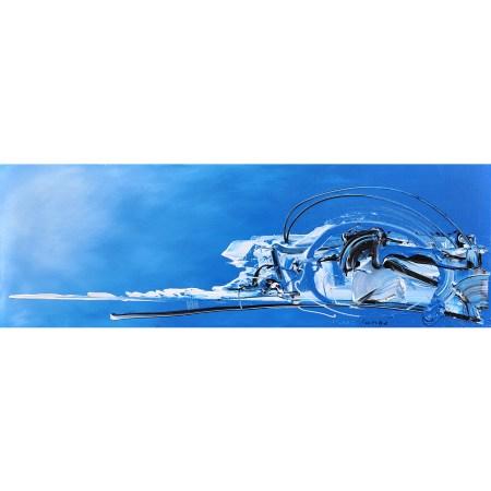 ´Skye Blue Rollercoaster´, 150 x 50 cm
