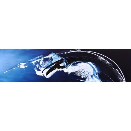 VERKOCHT! 'Floating In A Blue Dream 2', 200 x 50 cm