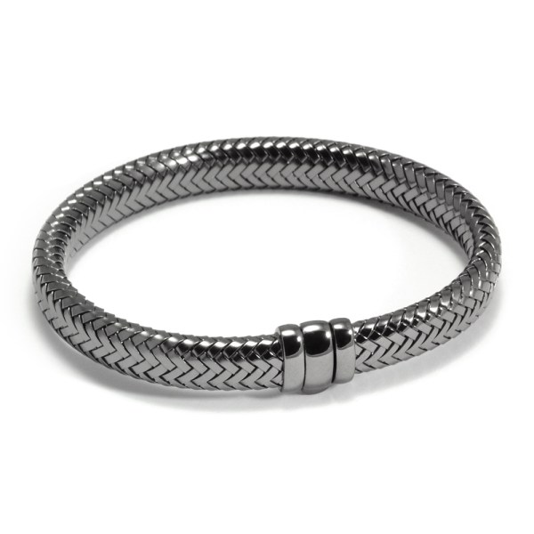 Armband ´Simplicity rules´, zilver met ruthenium coating