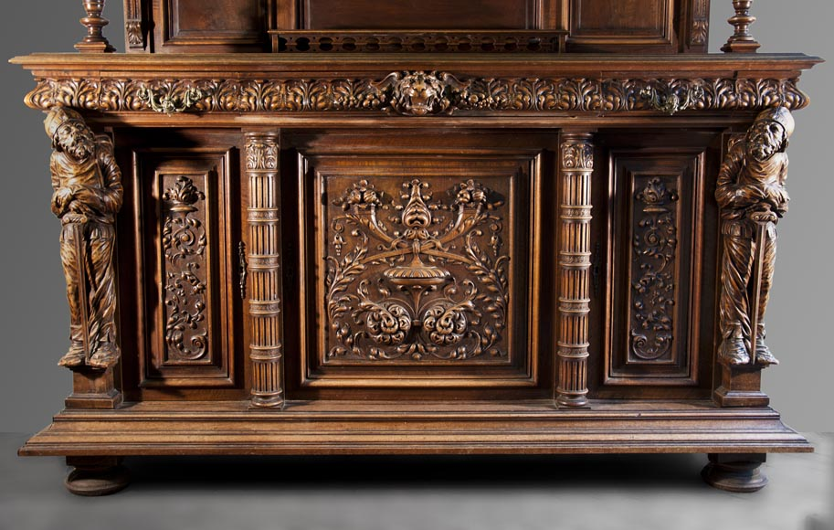 Antique NeoRenaissance style furniture made out of carved