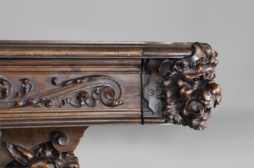 Beautiful Antique Neo Renaissance Style Walnut Carved