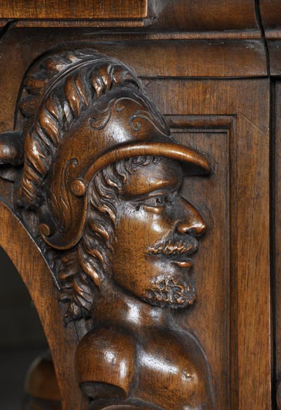 Beautiful antique NeoRenaissance style walnut carved