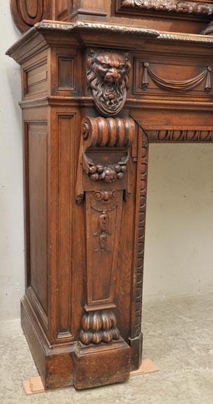 Extraordinary Antique Oak Wood Napoleon III Style