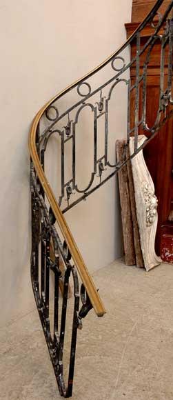 Rampe descalier en fer forg avec main courante en laiton  Elments architecturaux escaliers