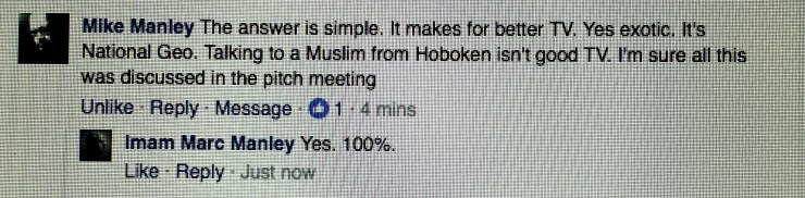 Ironically, even my non-Muslim family (my brother) gets this while many non-indigenous Muslims argue against it