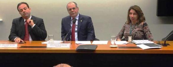 Hildo Rocha na audiência que definiu a agenda da comissão